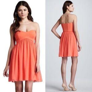 Diane Von Furstenberg Orange Asti Short Dress